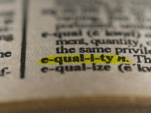 Word equality in dictionary
