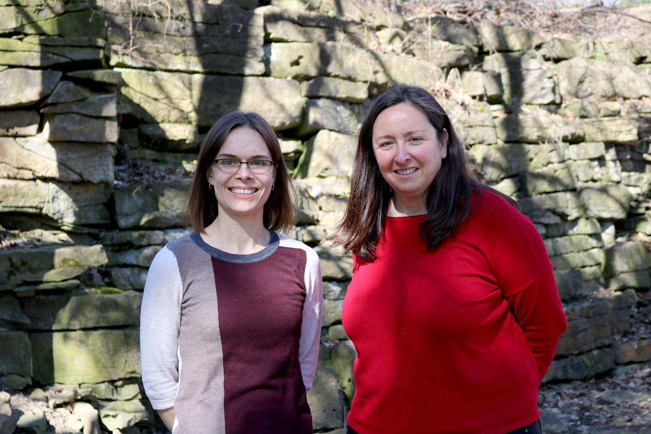 SPMA professors Shannon Kerwin, left and Kirsty Spence.