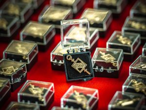 Beta Gamma Sigma pins.
