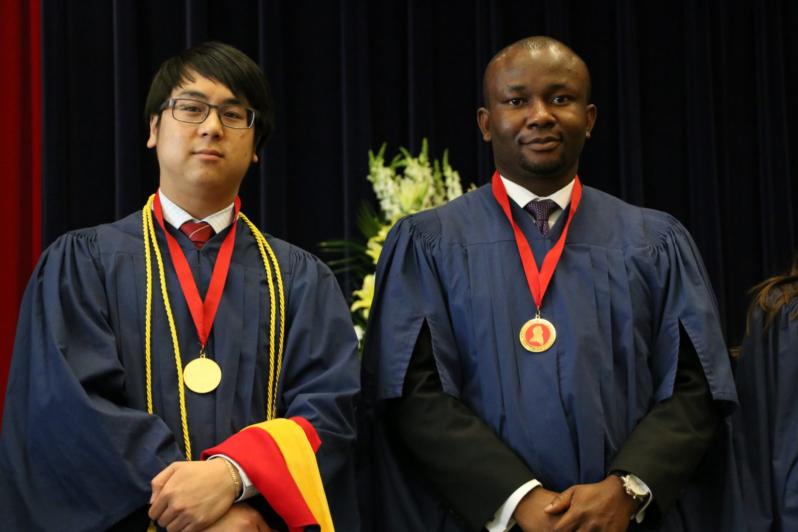 Board of Trustees Spirit of Brock award winners from the Faculty of Mathematics and Science David Nguyen, undergrad, and graduate student Chimaobi Amadi.