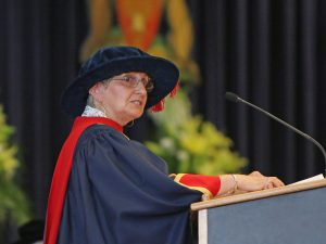 Liz Palmieri at a podium