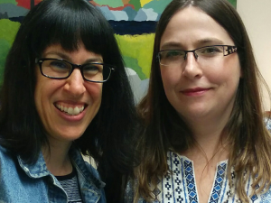 Associate professors Shauna Pomerantz and Dawn Zinga