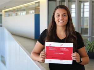Lauren Serianni received the Canadian Association for Work and Labour Studies award for outstanding undergraduate scholarship.
