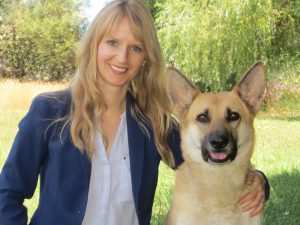Kendra Coulter, associate professor in Brock University's Centre for Labour Studies with Sunny, who was rescued from abuse.