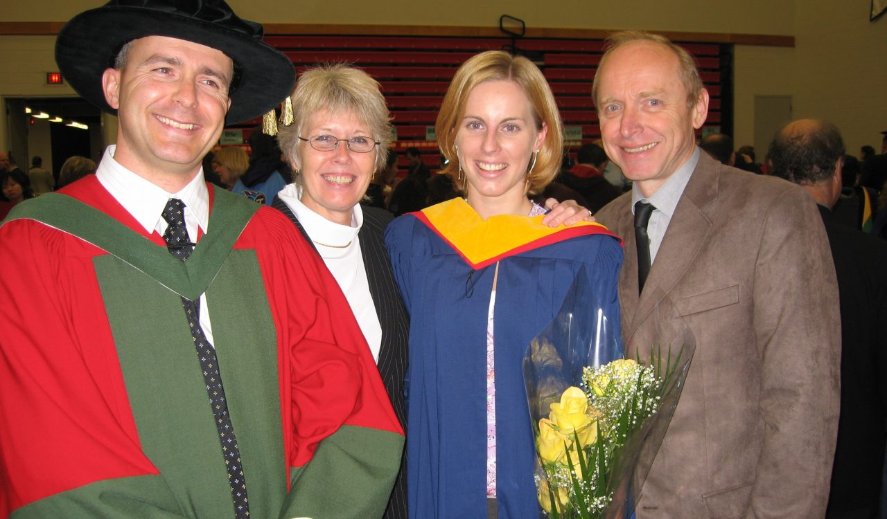Cermak family at Convocation