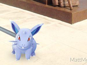 A Pokémon Go character is shown in front of the Maj.-Gen. Sir Isaac Brock statue in a screenshot captured by Brock University employee Matt Melnyk.