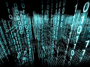 Abstract 3d background. Binary Language