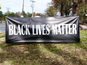 This is a Black Lives Matter Banner in Charlotte, NC, November 2015.