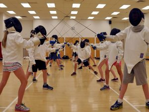 Students from Prince of Wales elementary school tried out fencing during the annual PALS program recently.