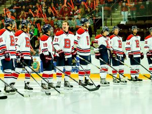 Brock men's hockey team at a recent Steel Blade Classic.