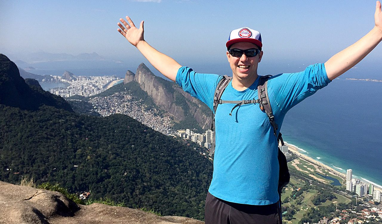 Brock University Josh Gordon spends much of his free time exploring Rio de Janeiro while interning as part of his SPMA program.
