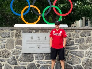 Brock University student Josh Gordon in Rio where he is doing an internship with the Canadian Olympic Committee.