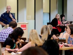 Acting President Brian Hutchings hosted the annual Opening of Term Celebration Thursday, Aug. 25.