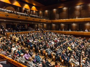 A packed theatre in the FirstOntario Performing Arts Centre. Bob Magee photo.