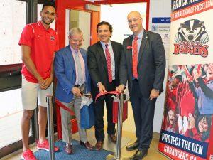 New Brock Men's Basketball Dressing Room