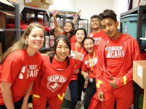 Brock Cares Day of Service volunteers.