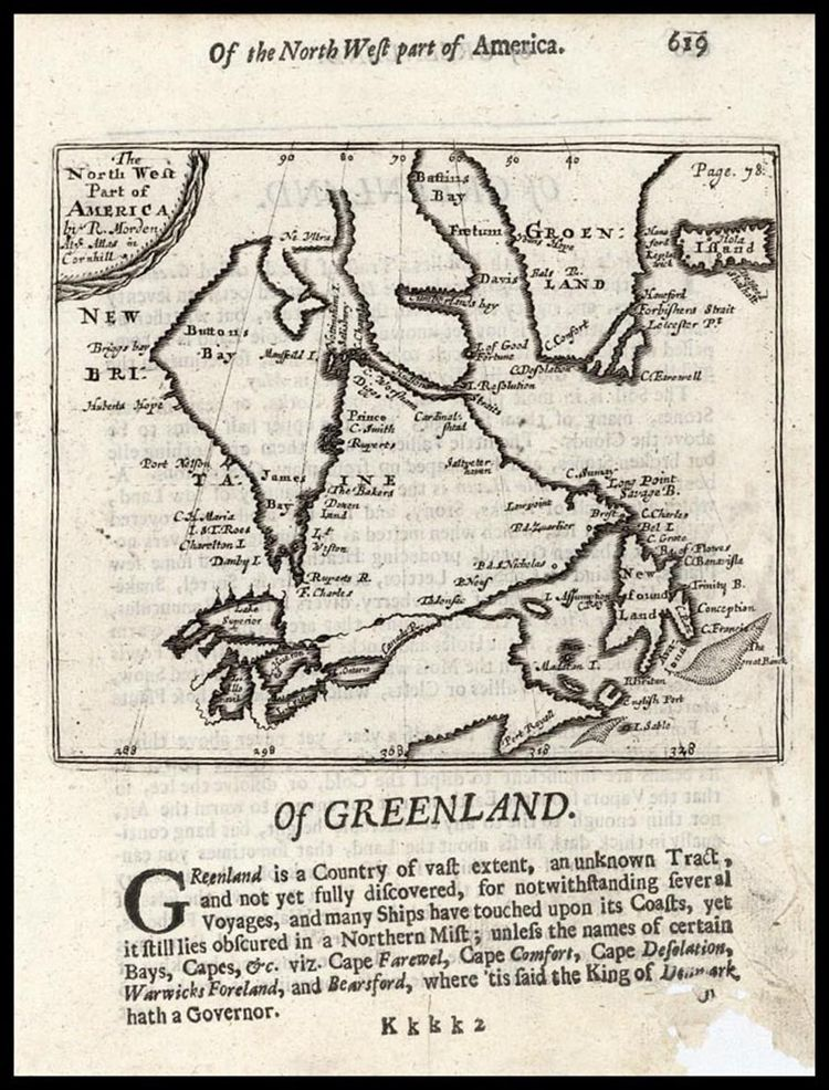A map of North America from 1687.