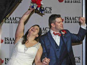 Alumni wedding reception at Isaac's
