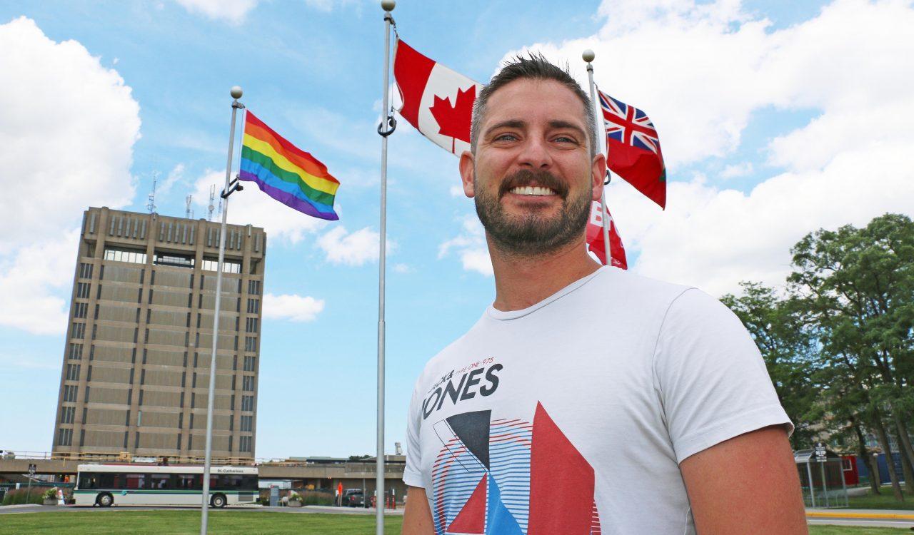 Pride flag-raising