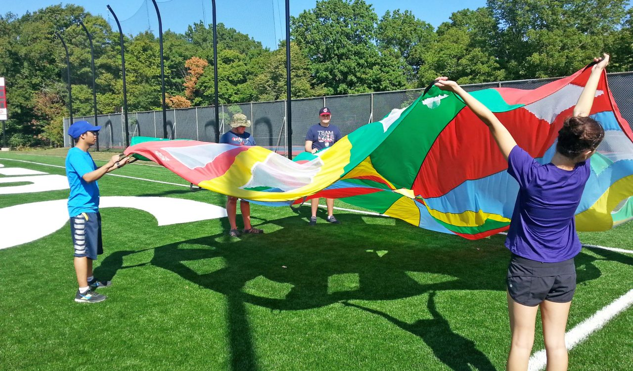 ASD Summer Movement Camp 2016 parachuting