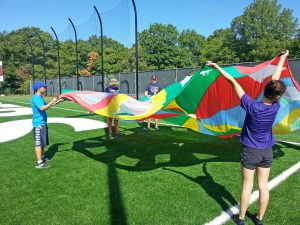 ASD Summer Movement Camp 2016 parachuting
