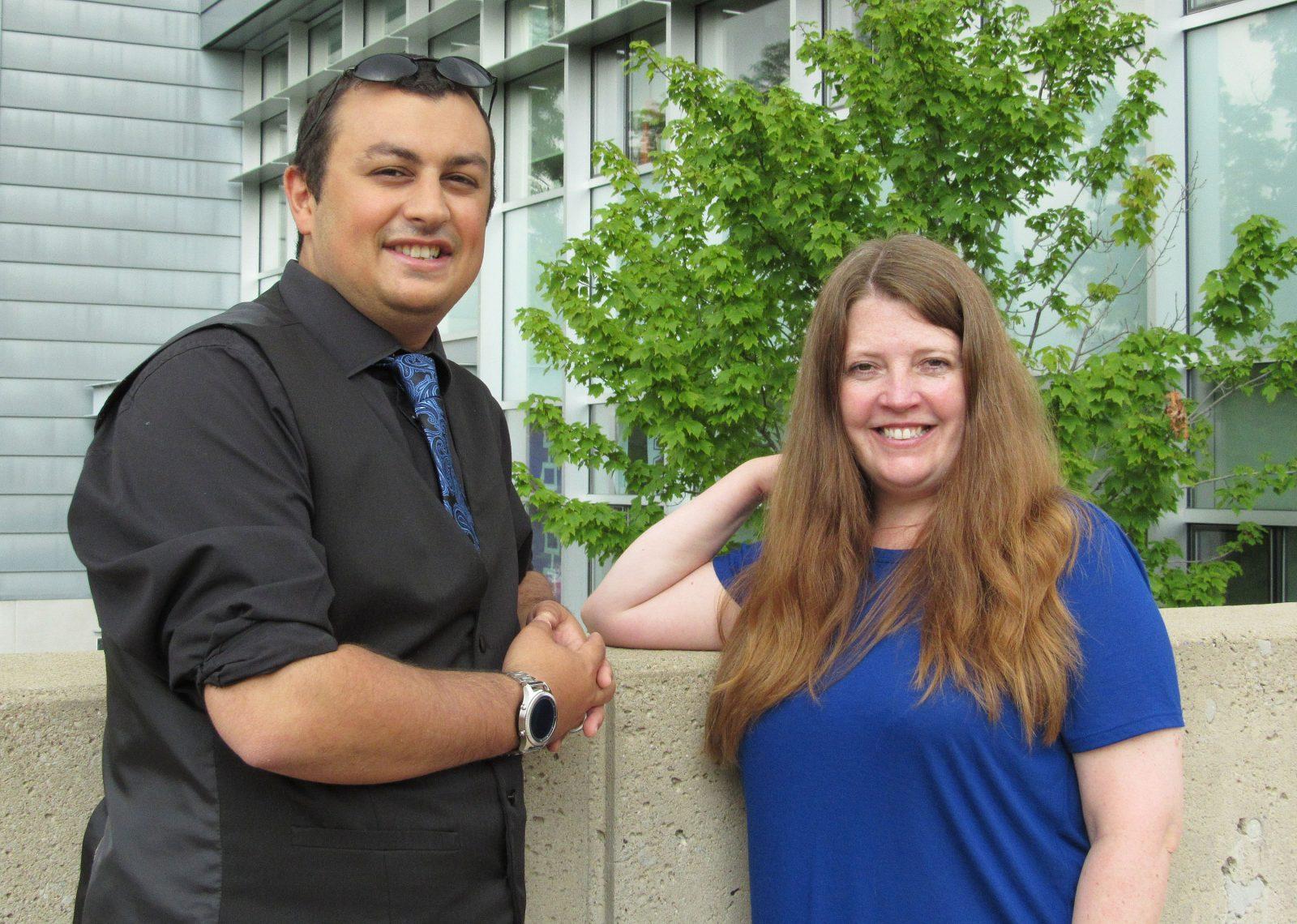 Visiting scholars Jamal Lahmar and Liz Chesworth