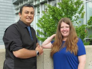 Visiting scholars Jamal Lahmar and Liz Chesworth