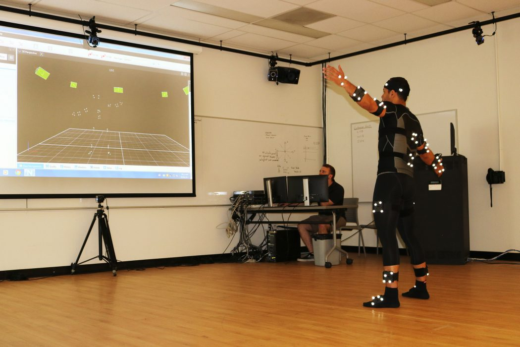 Edwin Avila using motion capture system