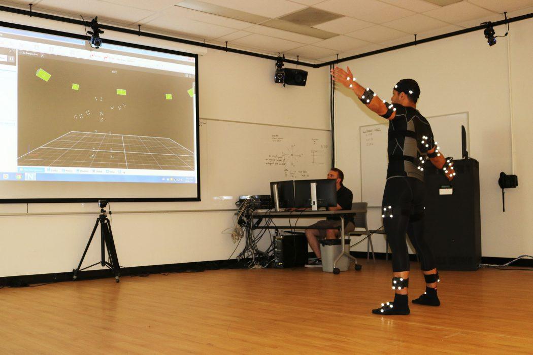 Edwin Avila using motion capture system