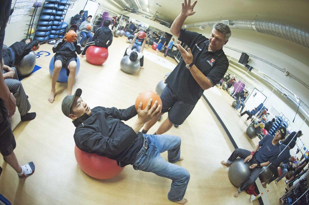 Joe Pelino at Nunavut fitness centre