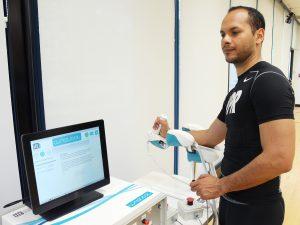 Edwin Avila uses wristbot