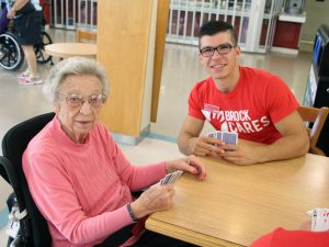 Brock Cares volunteer at Linhaven