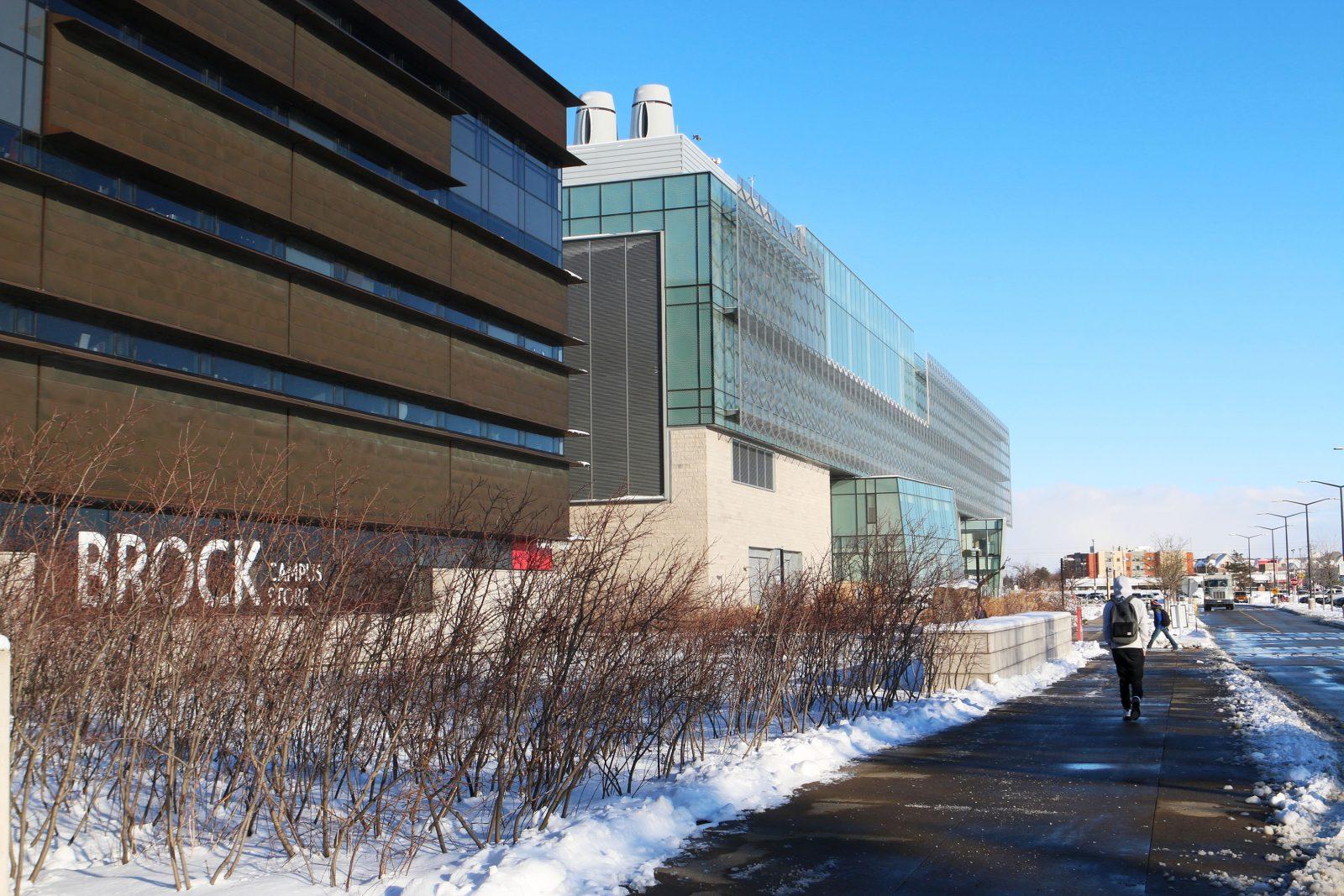 Brock campus in winter