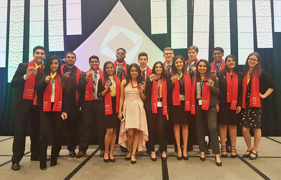 DECA U medal winners