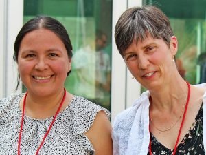 Marcia Trudeau Bomberry and Marian Bredin