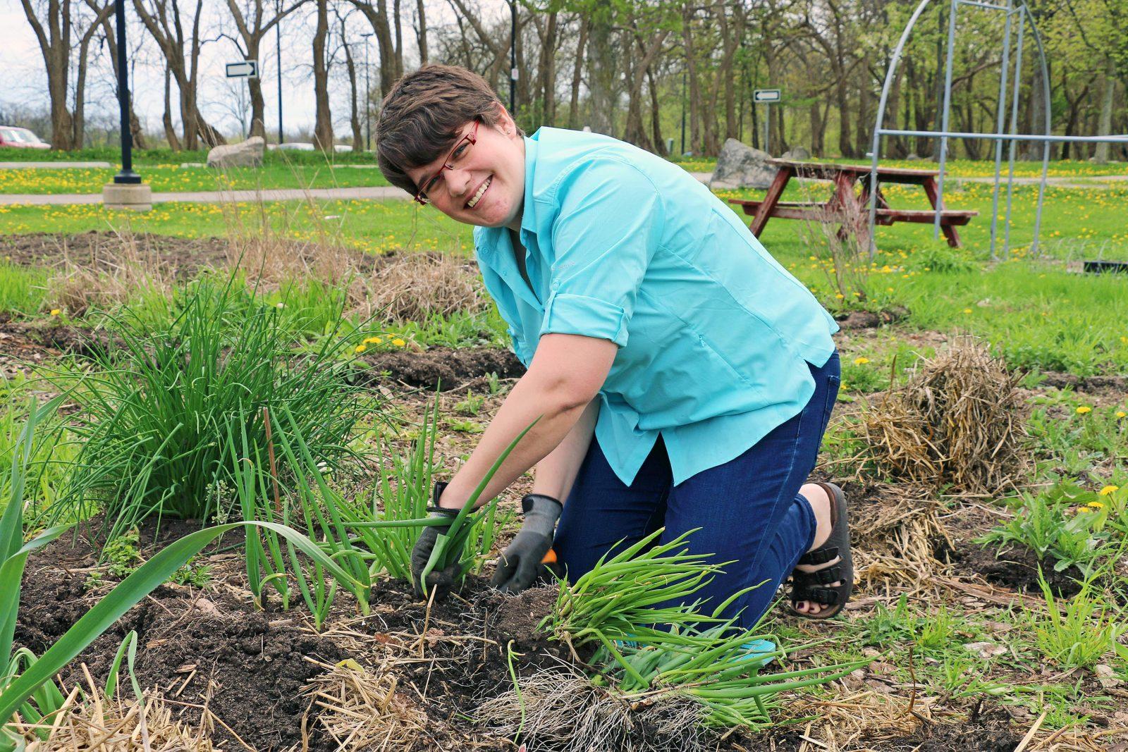 Alison Innes in the Brock Community Garden