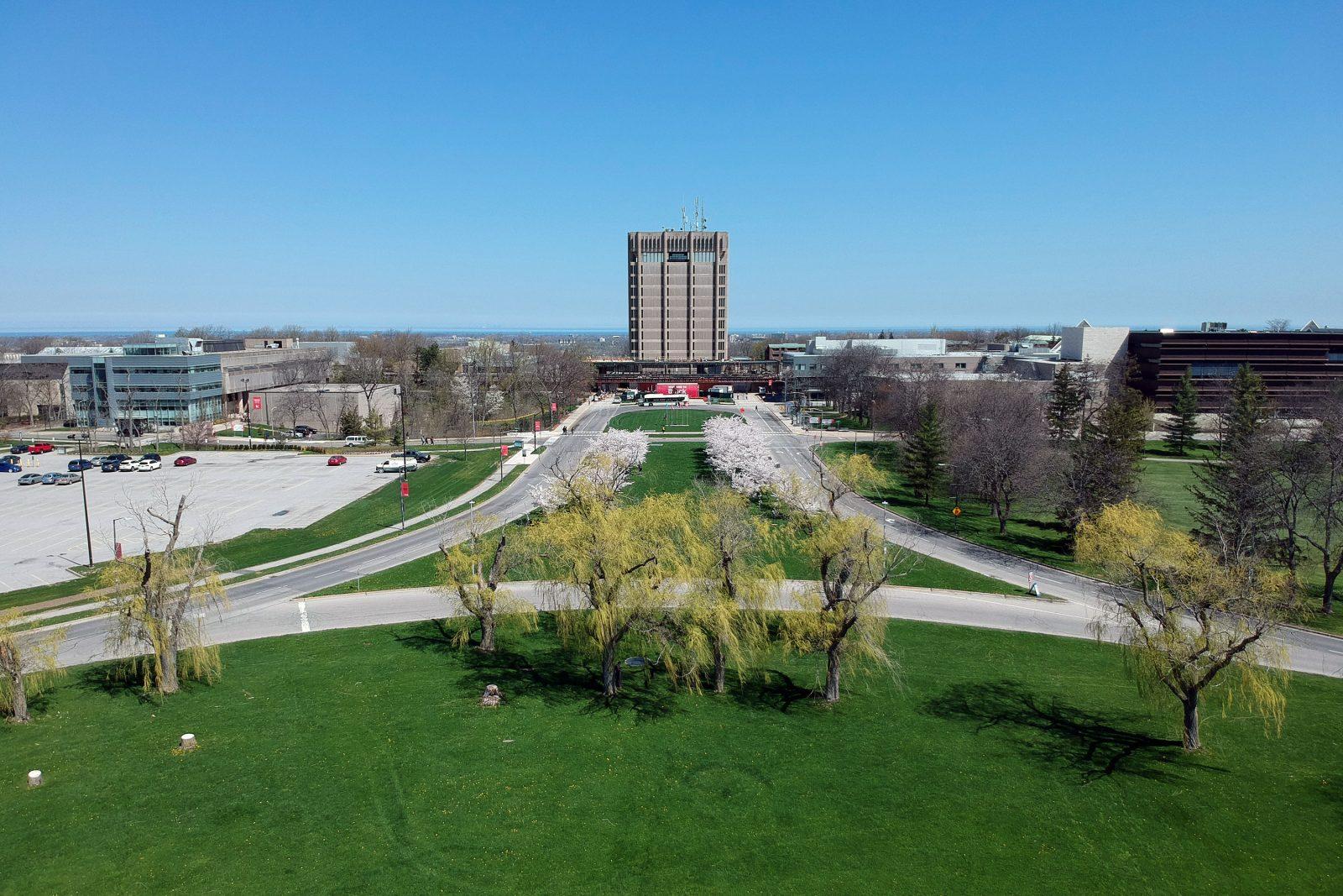Aerial of Brock campus