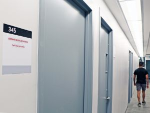 Goodman School of Business hallway