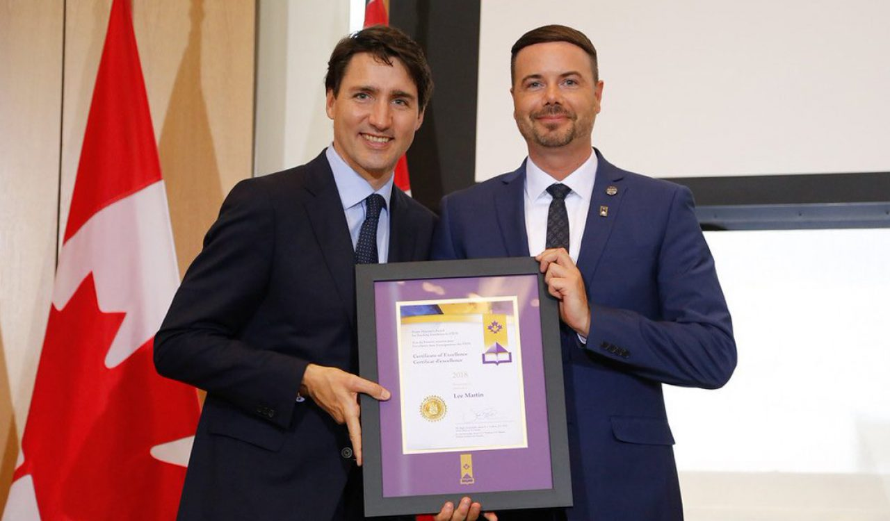 Lee Martin and Justin Trudeau