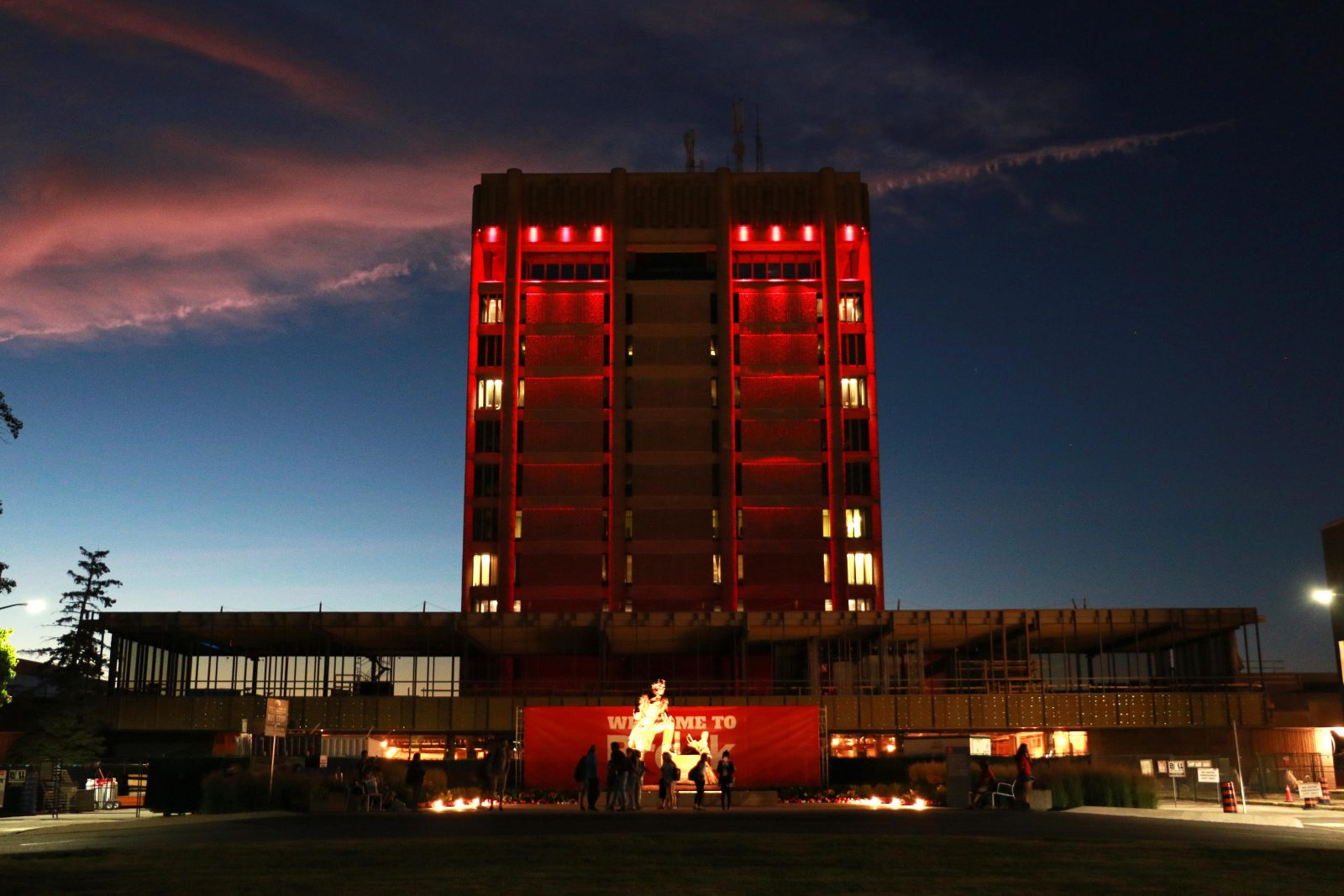 Schmon Tower lights
