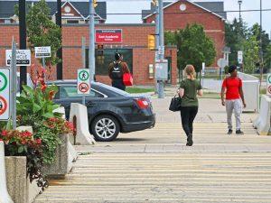 Campus walking path