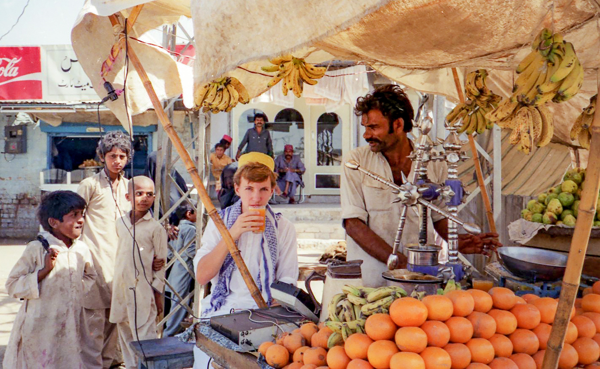A young Ron Thomson in Pakistan
