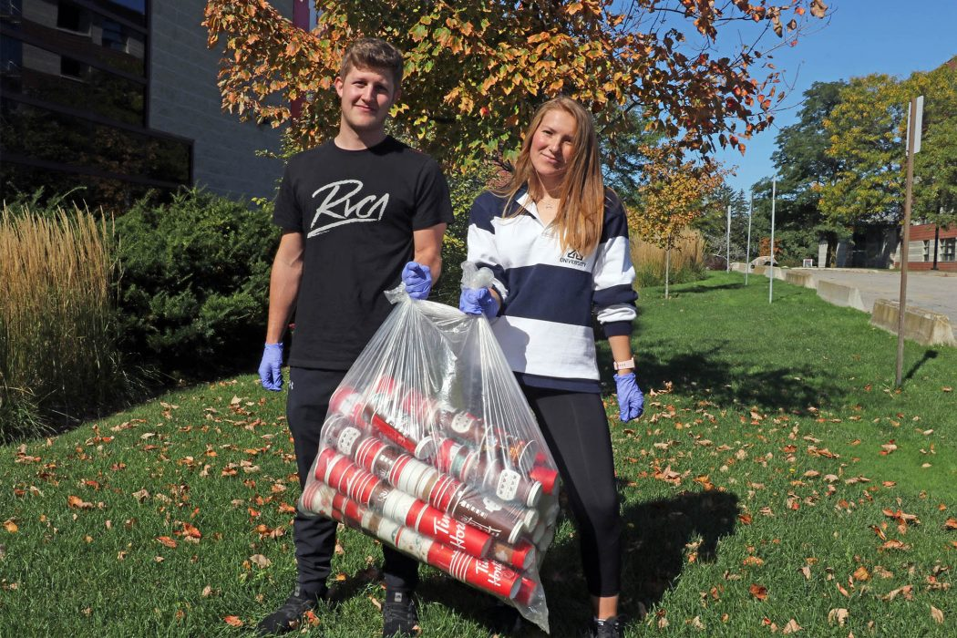 Empty coffee cups are Brock's top recycling offender