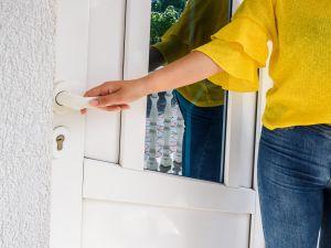 Entering door at rental