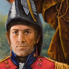 artist's rendering of sir isaac brock